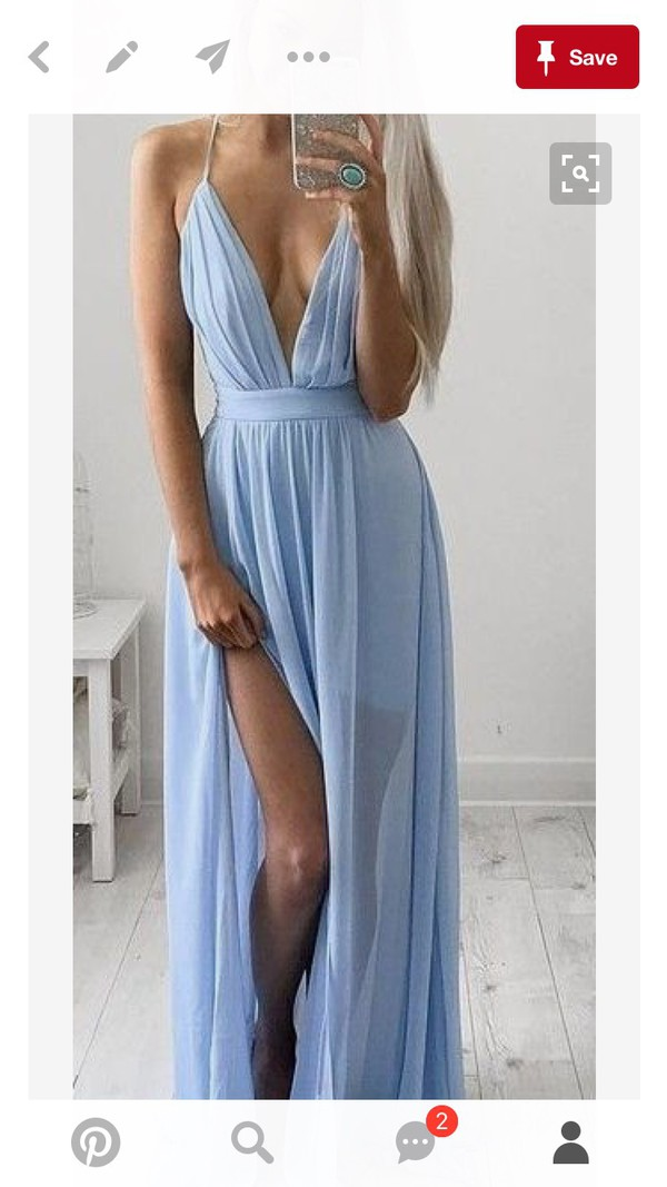 dress blue dress slit dress maxi dress