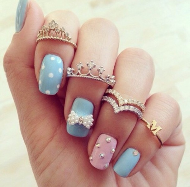 nail accessories ring crown classy sassy