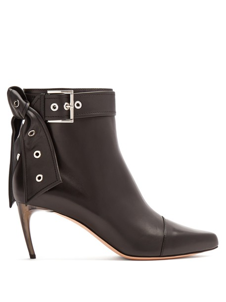 Alexander Mcqueen heel leather ankle boots ankle boots leather black shoes