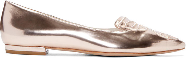 butterfly flats gold shoes