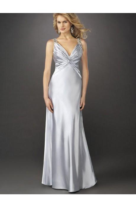 Sheath/Column Ruche Taffeta Prom Dresses