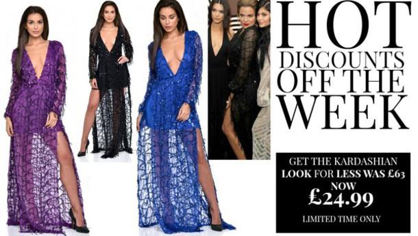 841c0c61 dress khloe kardashian kardashians sequins sequin dress maxi dress slit  dress side split black dress purple