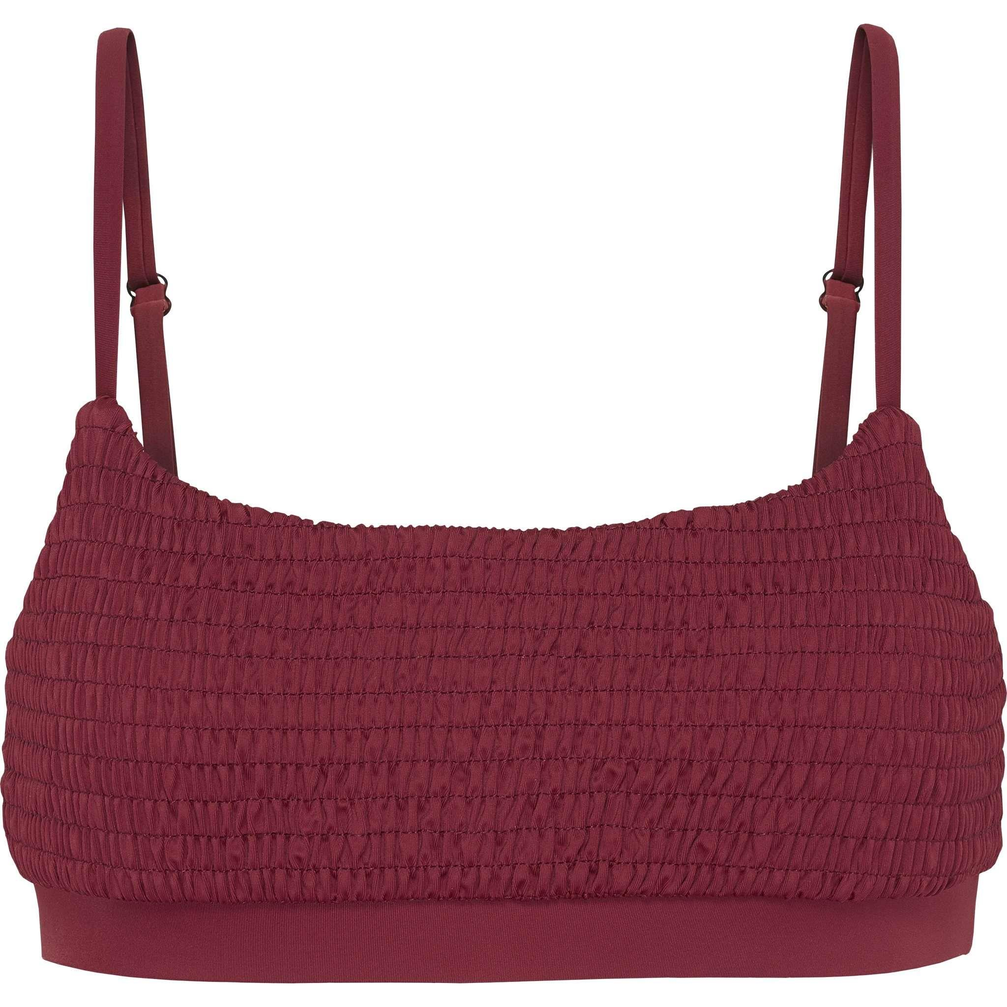 The Peitho Top | Burgundy Red