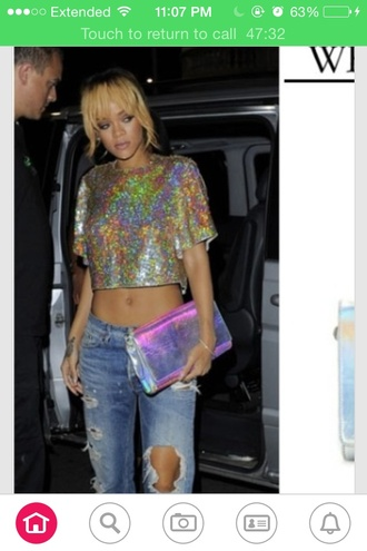 shirt gold glitter sparkle rihanna top cute open back flashy