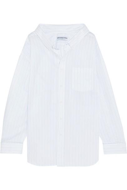 Balenciaga shirt oversized jacquard white cotton top