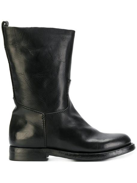 Silvano Sassetti zip women leather black shoes