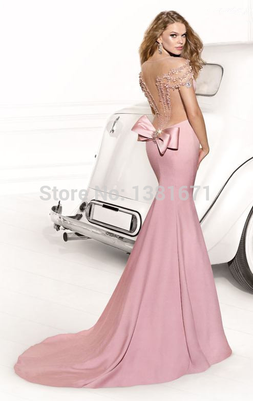 Aliexpress.com : Buy Pink Mermaid Beautiful Charming Delicate Crystal Beads On Tops Best Selling Evening Dress from Reliable dresses size 16 18 suppliers on Aojia Top Evening Dress