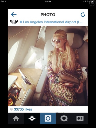 dubai abu dhabi paris hilton kaftan dress