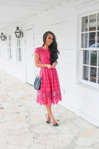 sunshine&stilettos blogger dress jewels bag shoes make-up romper pink dress pumps