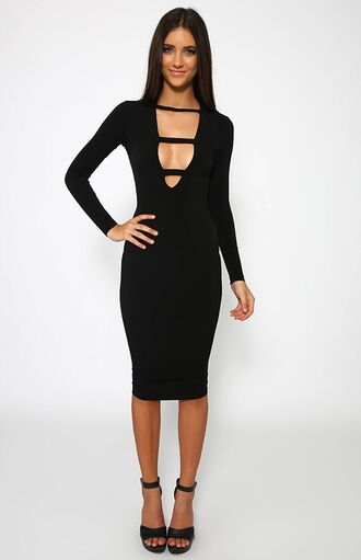 dress black black dress little black dress long sleeves long sleeve dress plunge v neck cut-out cut-out dress bodycon bodycon dress party party dress sexy party dresses sexy sexy dress party outfits summer summer dress spirng dress summer outfits spring outfits fall outfits witner outfits winter outfits winter dress fall dress prom prom dress short prom dress girly girly dress cute cute dress birthday dress date outfit dope style fashion