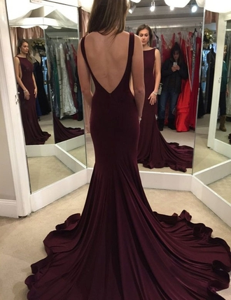 dress burgundy prom dresses long prom dress sweep train prom dresses prom dresses 2016 backless prom dress open back prom dress 2016 burgundy burgundy dress