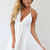 White Party Dress - White Sleeveless Halter Tie Dress | UsTrendy