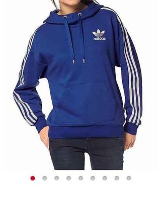 sweater adidas blue hoodie stripes
