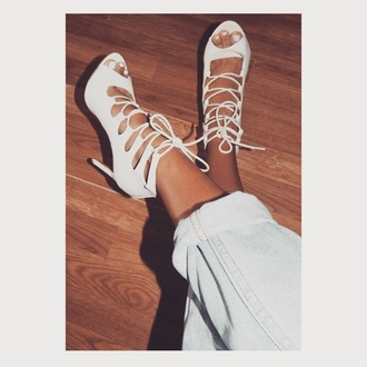 shoes lace up heels beige shoes nude heels