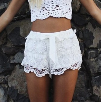 Hot Hot !!!! Free Shipping 2014 LOVEGIRL FASHION Milla Crochet Lace Shorts FT905 KZ4012-in Shorts from Apparel & Accessories on Aliexpress.com