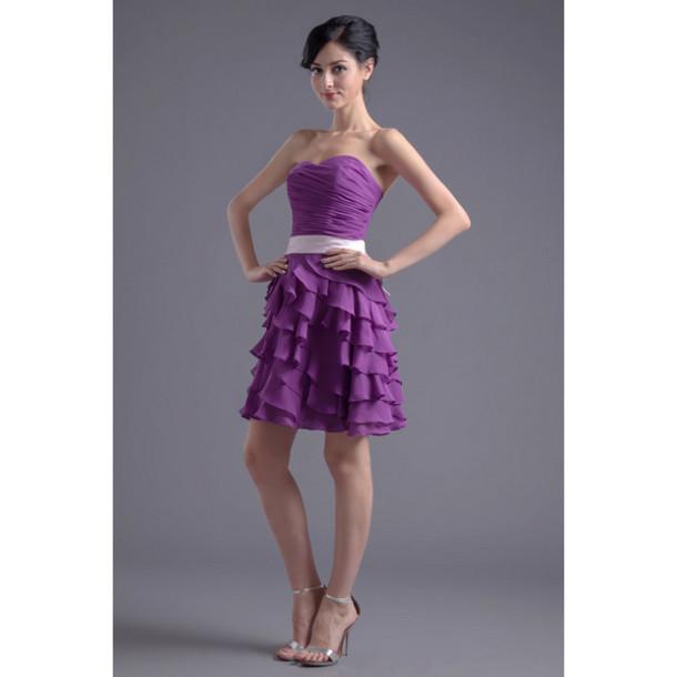 dress purple evening dresses clothes slim women dresses a-line wedding dresses a line cocktail dresses