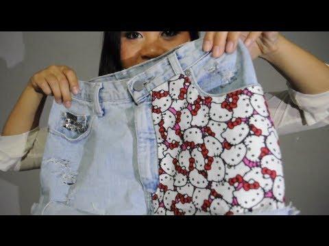 Ddiy ♥ how to make high waisted hello kitty shorts!