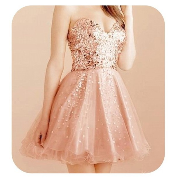 e3f644d1f250 dress glitter dress cute pink gold homecoming dress holiday dress prom  sparkle prom dress prom dress