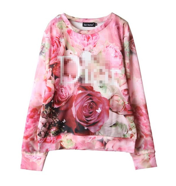 shirt dior bat norton rose flower swearshirt pollover hoodie