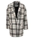 Rhia oversized check blazer in cream