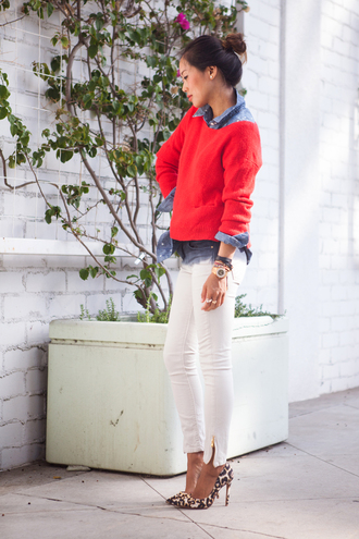 song of style sweater shirt jeans jewels shoes