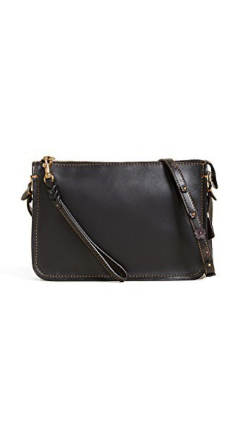 coach cross rose tea bag black