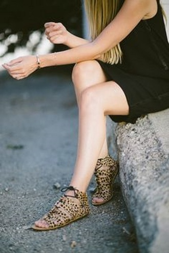 flat shoes flat sandals flats leopard print leopard print sandals laces ankle sandals black cute sandals