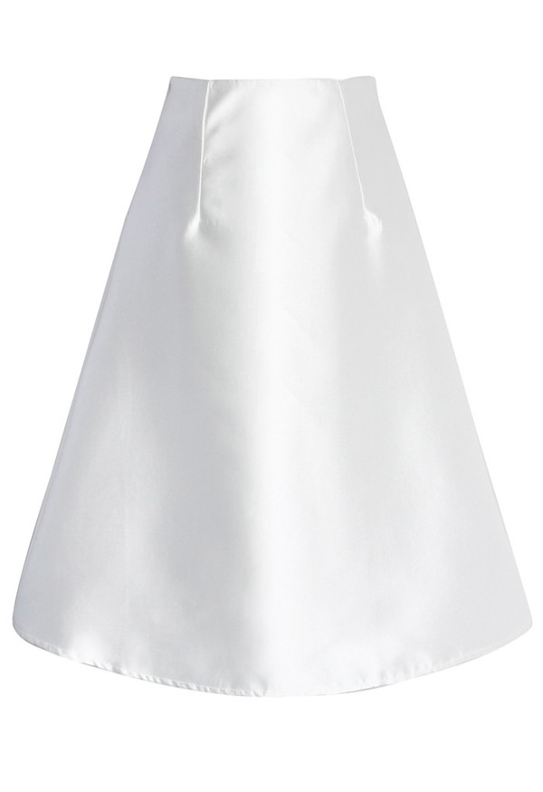 chicwish textured a-line skirt white skirt