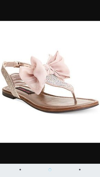 shoes sandals cute bow rhinestones