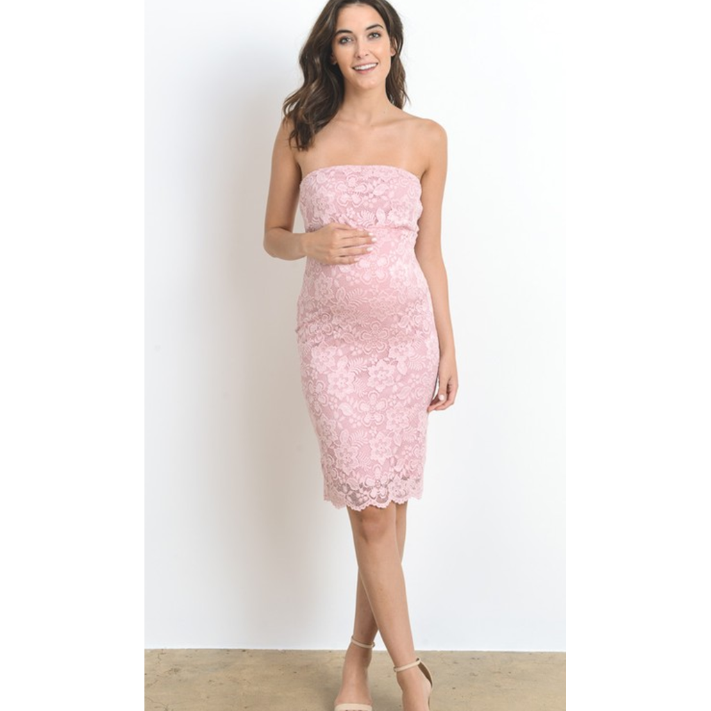 6a5fa8edc6527 Beautiful Pink Maternity Dresses