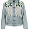 Levis: made & crafted short embroidered denim jacket