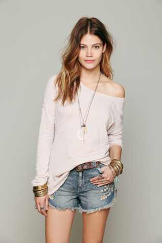 free people womens super soft washed pullover