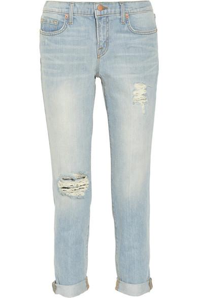 J Brand|Aiden cropped distressed boyfriend jeans|NET-A-PORTER.COM