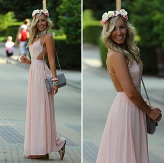 dress pink gown prom evening dress date outfit evening outfits blogger date dress homecoming your mine beautiful light pink summer dress light pink dress back out casual