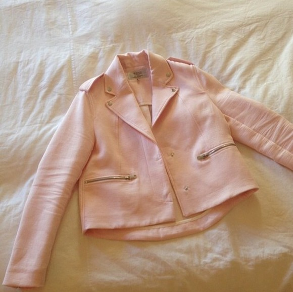 jacket motorcycle jacket clothes pink