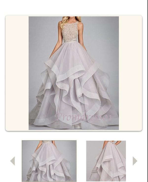 Long Ruffled Prom Dresses