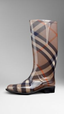 Smoked Check Rain Boots | Burberry