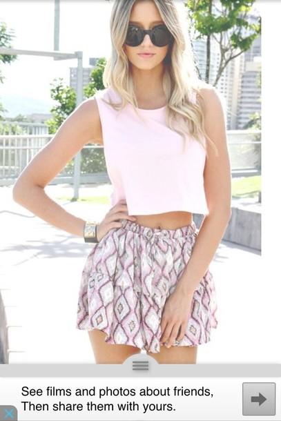 shirt light pink halter top and matching skirt