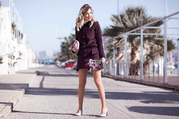 mi aventura con la moda blogger jacket skirt blouse shoes bag pumps clutch fall outfits