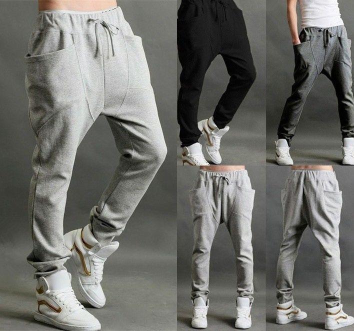 Men's Casual Hip Hop Sport Dance Trousers Baggy Jogging Harem Pants Sweatpants | eBay