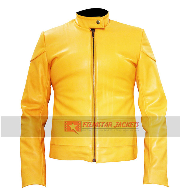 jacket lifestyle yellow movie actress womens jackets fashion megan fox ninja turtles celebrity style