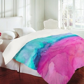 coat purple light blue bedding