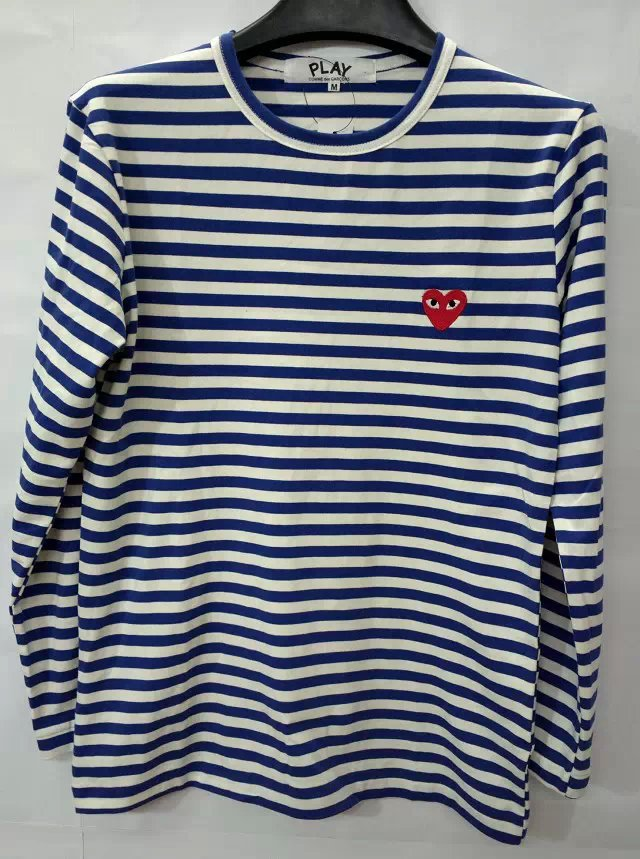 f3193ba8a22f New Men Women lady boy COMME DES GARCONS CDG Play Striped T shirts tees  Long Sleeve ...