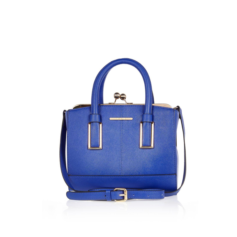 Blue mini frame bag