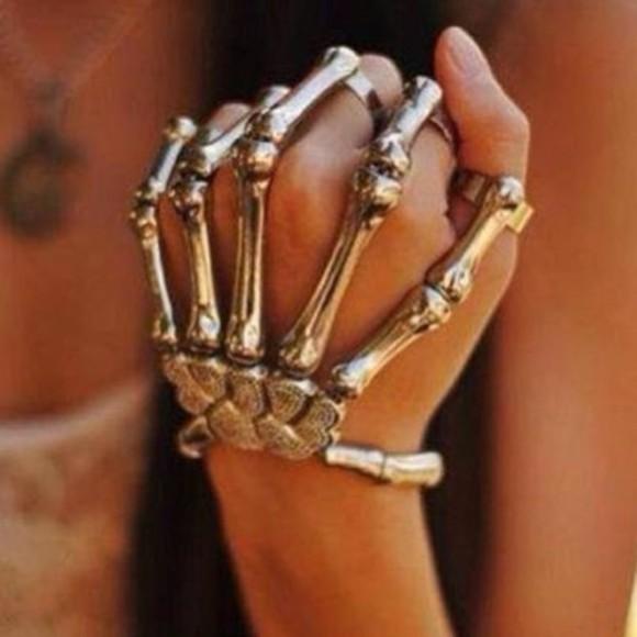 skull jewels skeleton silver