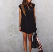 dress,little black dress,bag,love more,l.a.,black and white,gold,jewelry,jewels,bracelets
