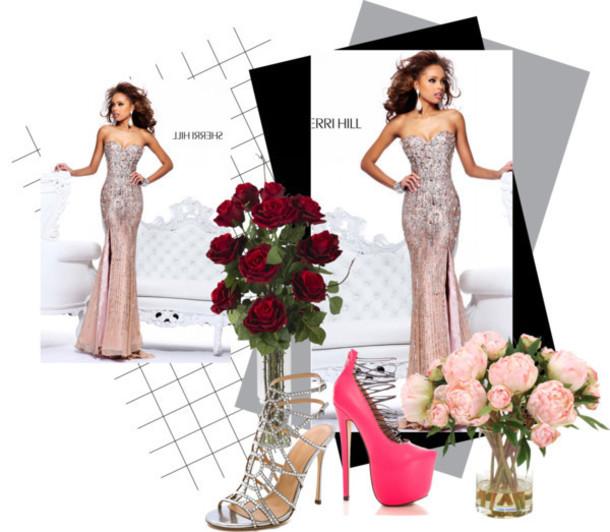 dress 2014 sherri hill 8513 nude prom dresses