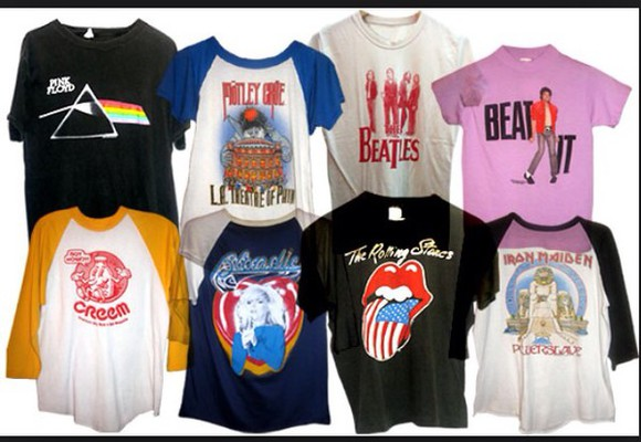 bandshirts colourful t-shirt bands