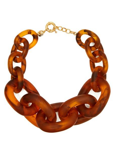 VANDA JACINTHO necklace brown jewels