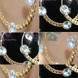 jewels earrings bling hoops earrings